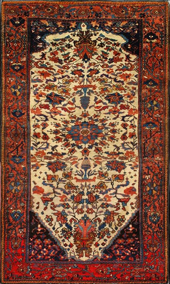 Antique Bakhtiar Rug 111107 First Rugs Rugs