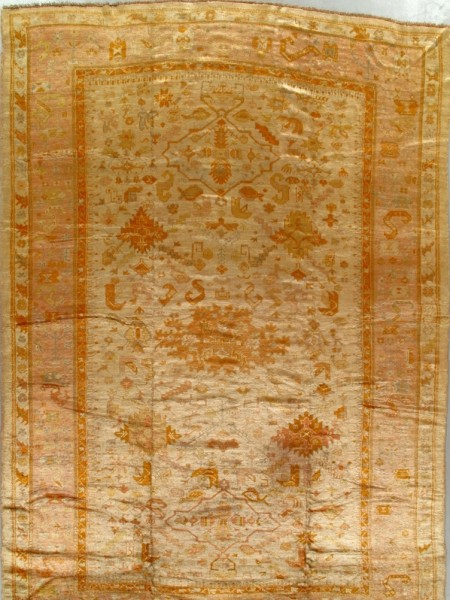 Antique Oushak Rug 230822 First Rugs Rugs Antique Rugs